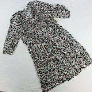 Terra & Sky Smocked Midi Dress Plus Size Floral